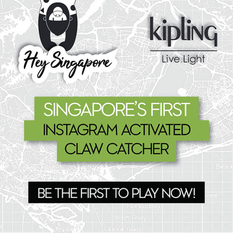 6cb27a05c Kipling brings you Singapore's First Instagram Activated Claw Catcher at  Kipling Jem (#1-55) this 30th May! Have fun and Live.Light with us, as we  bring ...