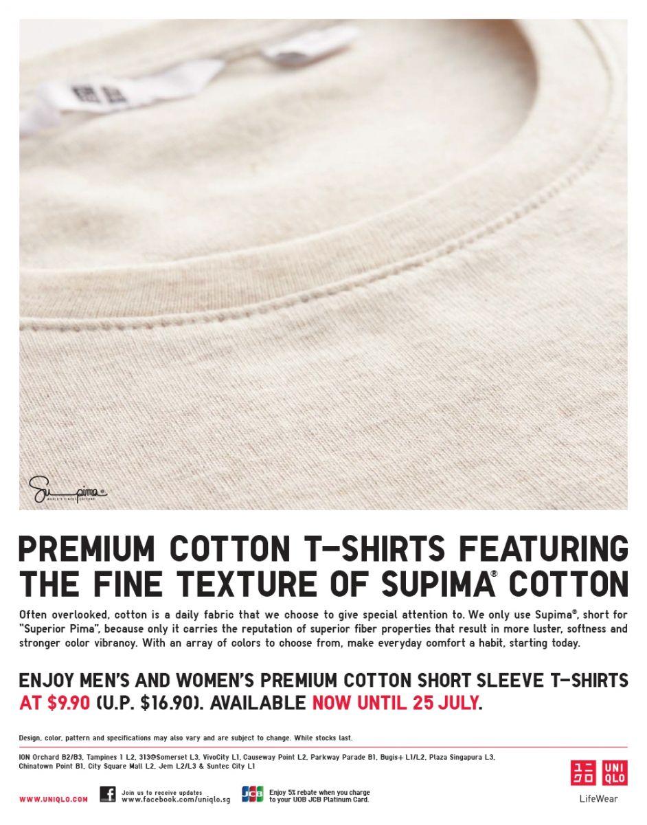 Jem enjoy uniqlo premium cotton t shirts at now for Uniqlo premium t shirt