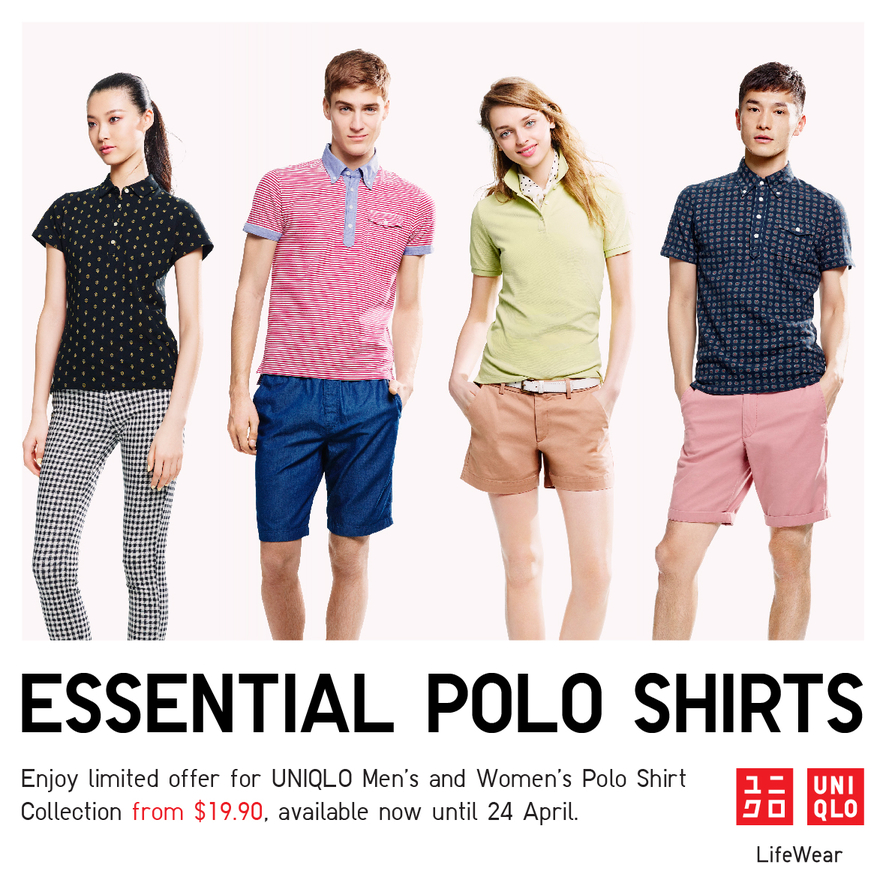 Jem Limited Offer For Uniqlo Men S And Women S Polo Shirts